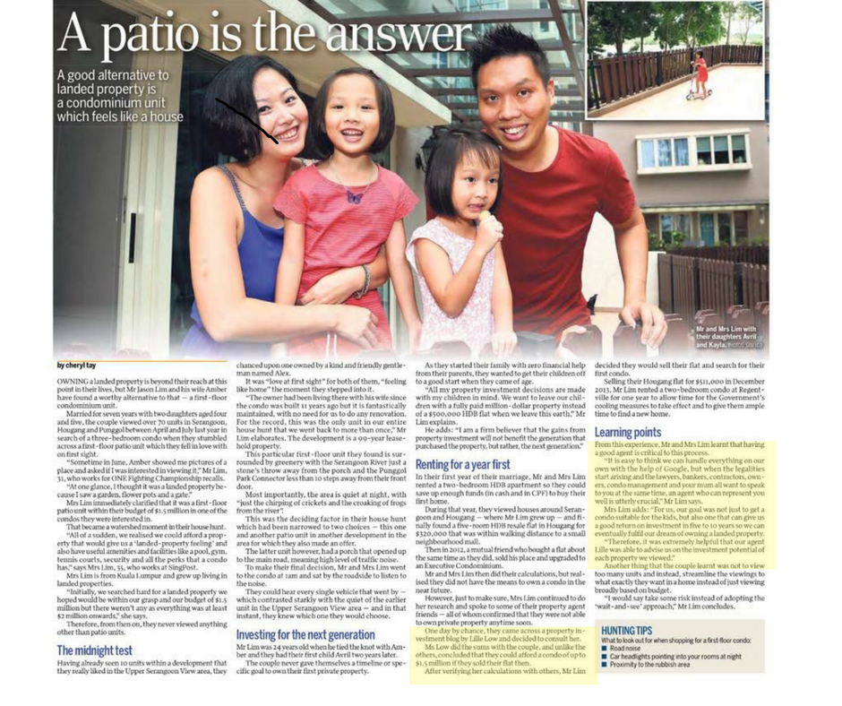 Straits Times feature with highlight