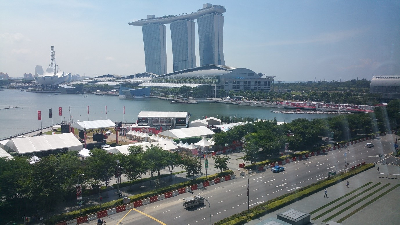 marina bay view from the sail gym